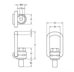 Gr8+ 10 Swivel Lifting Point Diagram
