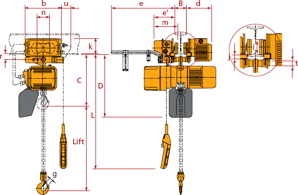 ER2 MR2 pwb anchor kito er2 electric chain hoist active lifting equipment kito electric chain hoist wiring diagram at mr168.co