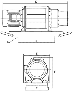 Comeup Electric Winches Dimensions