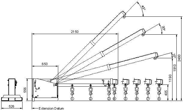 TJL2.5 Tilt Jib Long - 2.5 Tonne Diagram