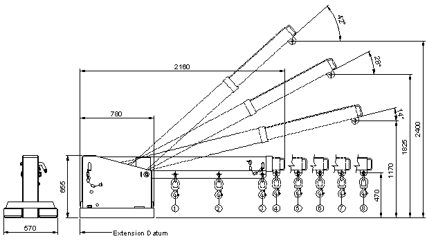 TJL5 Tilting Jib Long - 5 Tonne Diagram