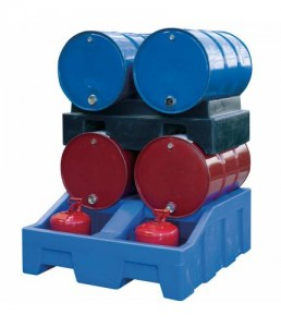 PSRDH002 Poly Bunded Trolley for 4 x 25L Drums