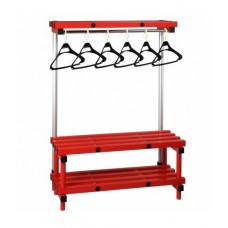 SPCB002 Coat Bench with Hooks - Medium Single Sided