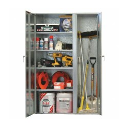 Galvanised Lockable Cabinet - Shelves/Vertical Cupboard ST01