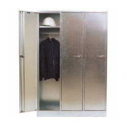 Galvanised Lockable Cabinet - Triple Bank ST04