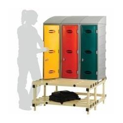 STLSS002 Locker Seat Stand - 3 lockers