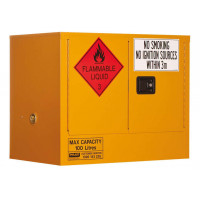 PRATT Flammable Storage Cabinet 100L 2 Door, 1 Shelf