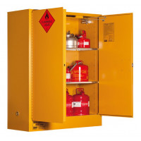 PRATT Flammable Storage Cabinet 350L 2 Door, 3 Shelf